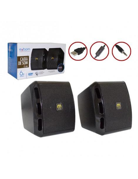Caixa de Som Exbom USB P2